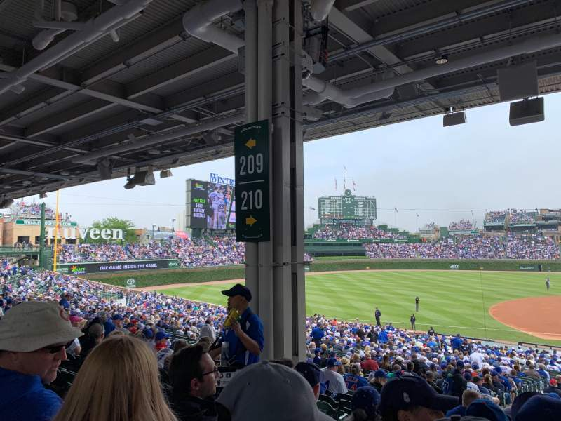 Seating view for Wrigley Field Section 210 Row 11 Seat 5