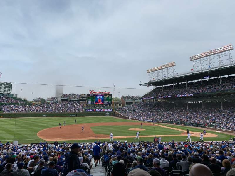 Seating view for Wrigley Field Section 210 Row 5 Seat 19