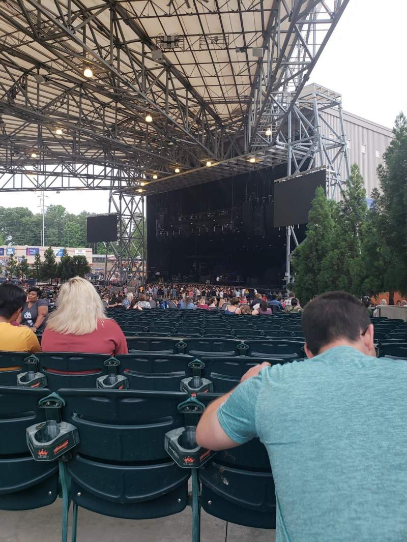 Seating view for Ameris Bank Amphitheatre  Section 101 Row T Seat 9