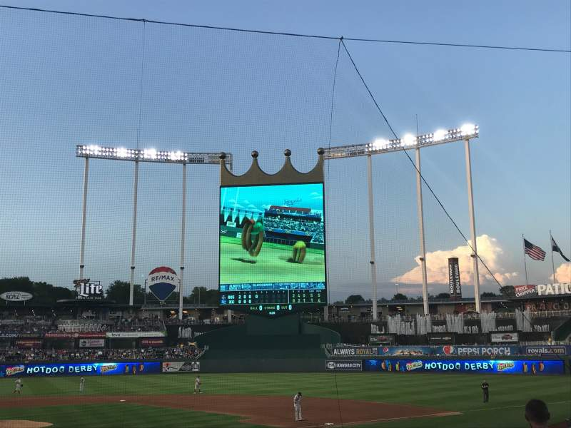 Seating view for Kauffman Stadium Section 131 Row N Seat 1