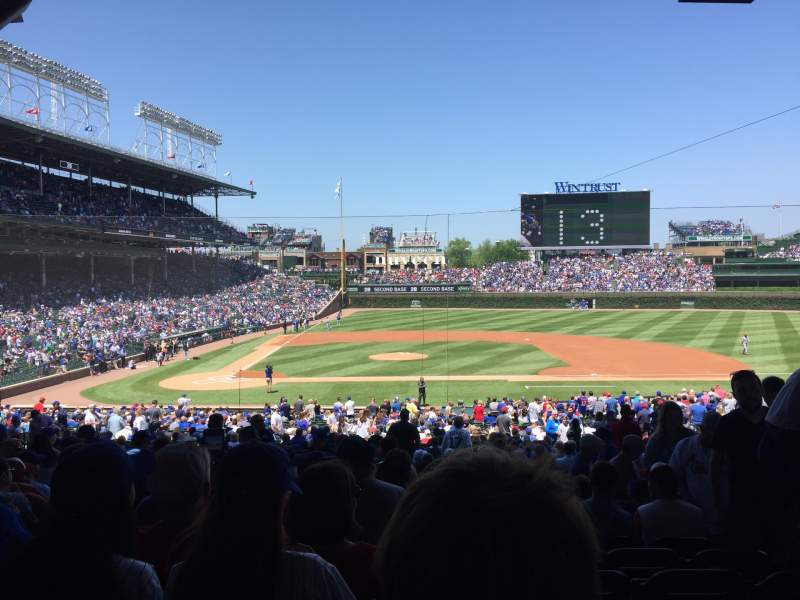 Seating view for Wrigley Field Section 222 Row 9 Seat 23