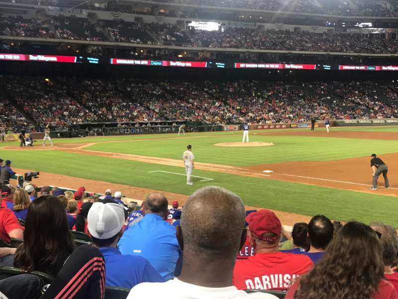 Seating view for Globe Life Park in Arlington Section 36 Row 12 Seat 6