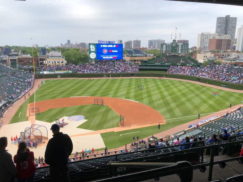 Seating view for Wrigley Field Section 422R Row 4 Seat 5