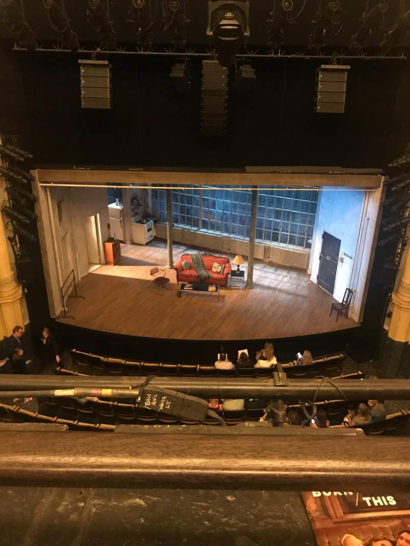 Seating view for Hudson Theatre Section Balcony C Row A Seat 107
