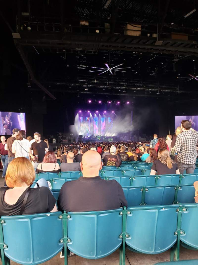 Seating view for BB&T Pavilion Section 202 Row P Seat 81