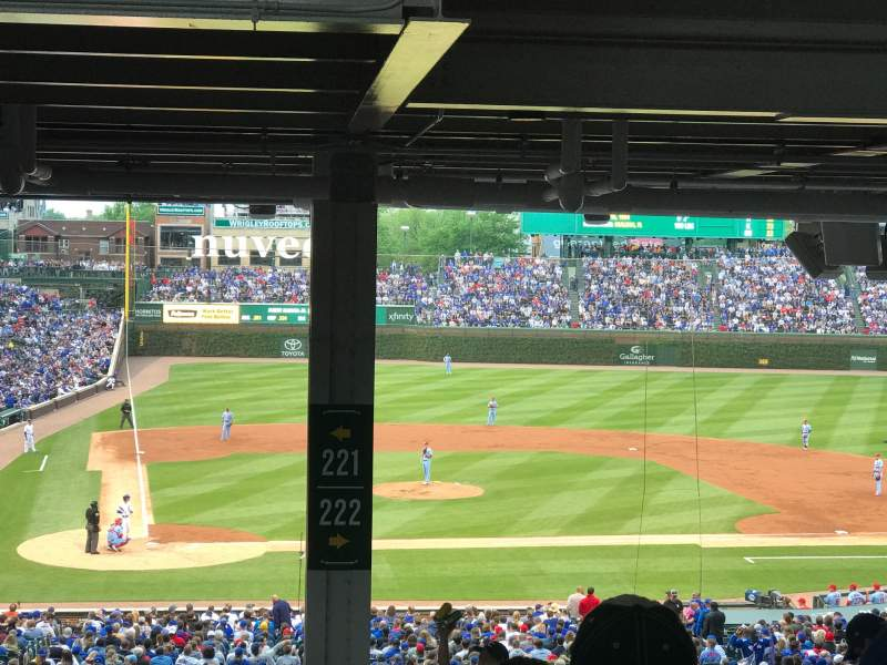 Seating view for Wrigley Field Section 221 Row 22