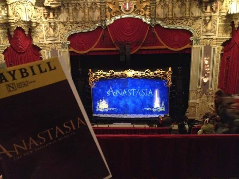 Seating view for James M. Nederlander Theatre Section Balcony C Row N Seat 308