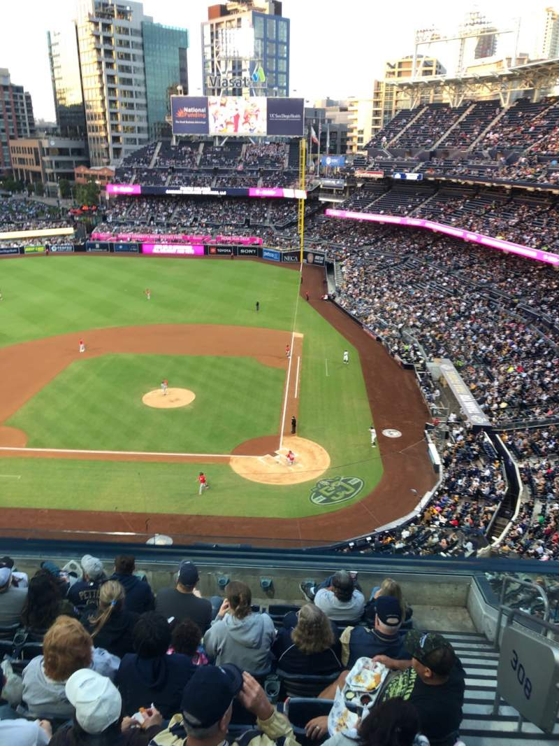 Seating view for PETCO Park Section 308 Row 7 Seat 3