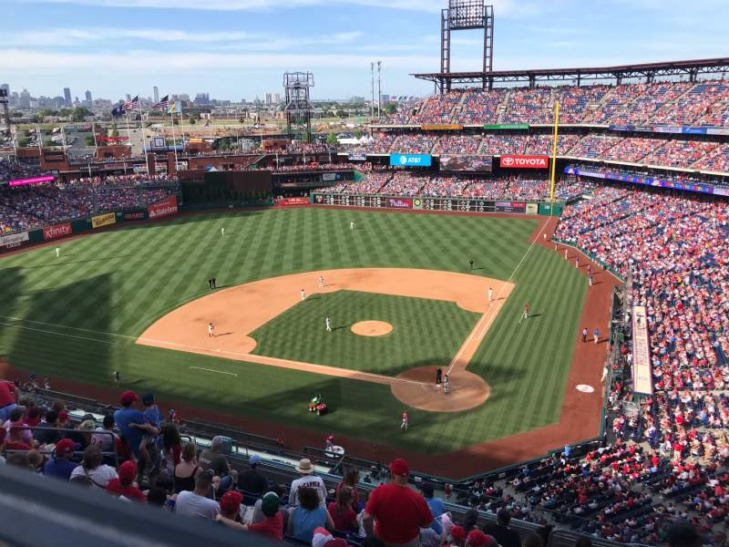 Seating view for Citizens Bank Park Section 423 Row 1 Seat 5