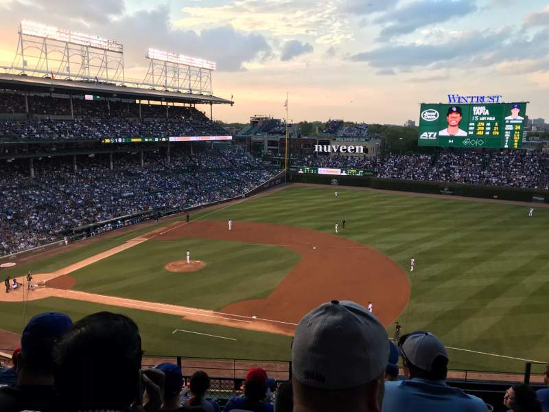 Seating view for Wrigley Field Section 326R Row 8 Seat 19