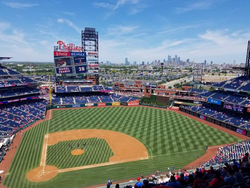 Seating view for Citizens Bank Park Section 416 Row 16 Seat 24