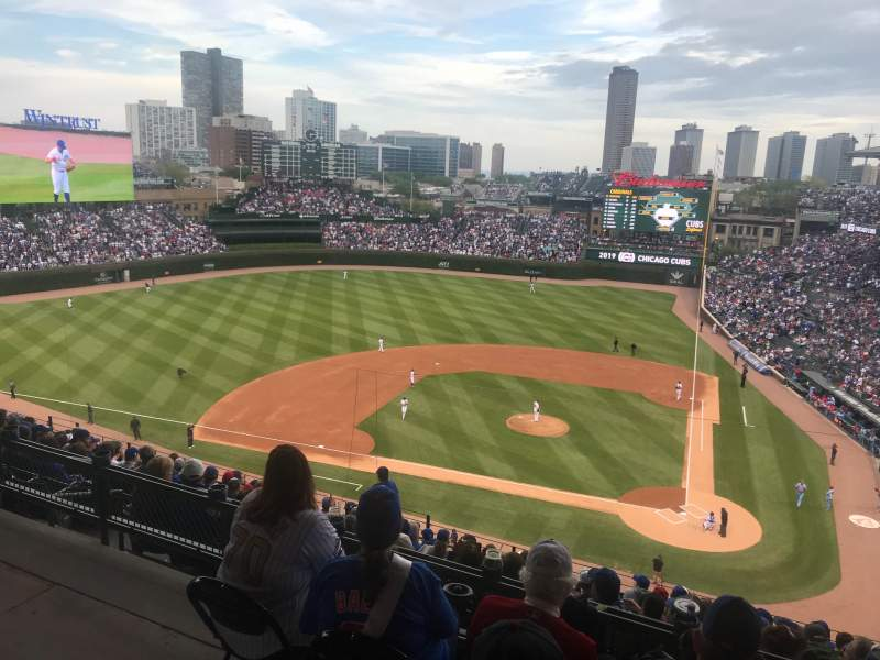 Seating view for Wrigley Field Section 413L Row 1 Seat 19