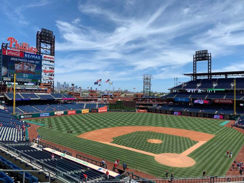 Seating view for Citizens Bank Park Section 224 Row 7 Seat 10