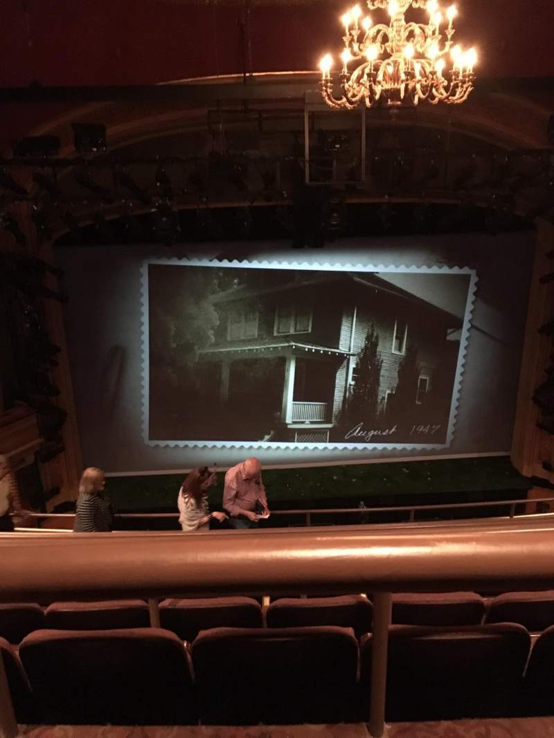 Seating view for American Airlines Theatre Section Rear Mezzanine Row G Seat 120