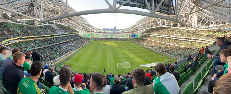 Seating view for Aviva Stadium Section 516 Row K Seat 6