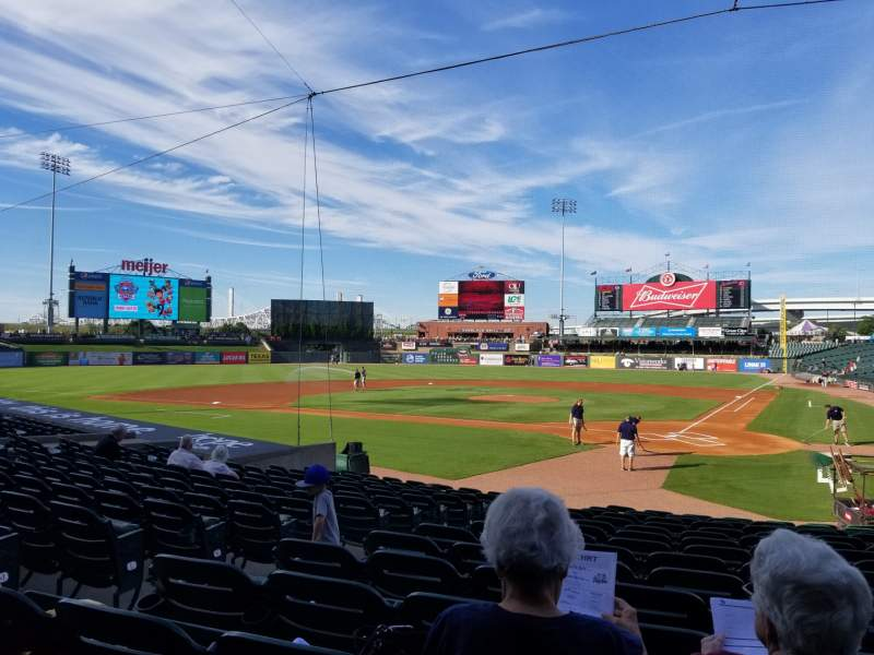 Seating view for Louisville Slugger Field Section 117 Row Q Seat 10