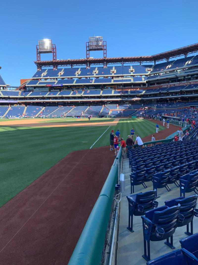 Seating view for Citizens Bank Park Section 139 Row 15 Seat 7