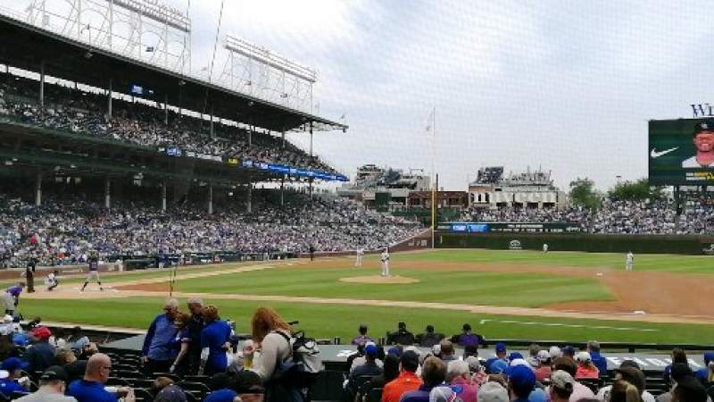 Seating view for Wrigley Field Section 124 Row 3 Seat 5
