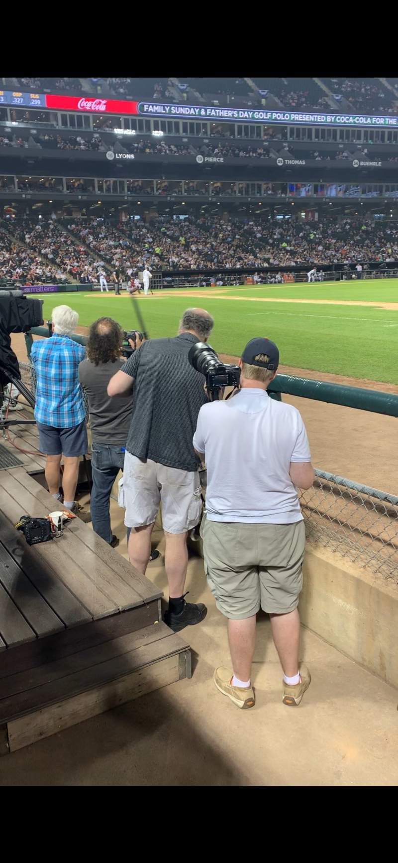 Seating view for Guaranteed Rate Field Section 121 Row 2 Seat 9