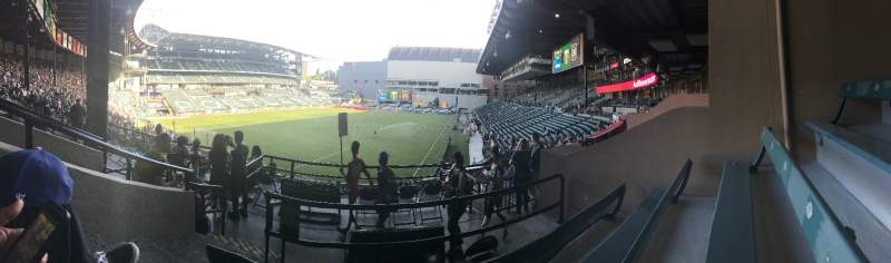 Seating view for Providence Park Section 211 Row C Seat 2