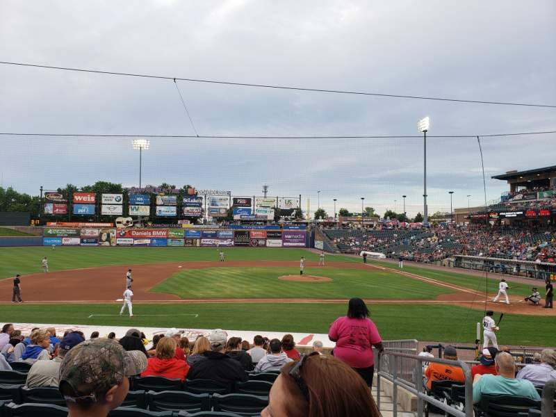 Seating view for Coca-Cola Park Section 117 Row U Seat 1