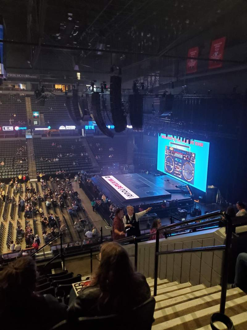 Seating view for Van Andel Arena Section 222 Row J Seat 2
