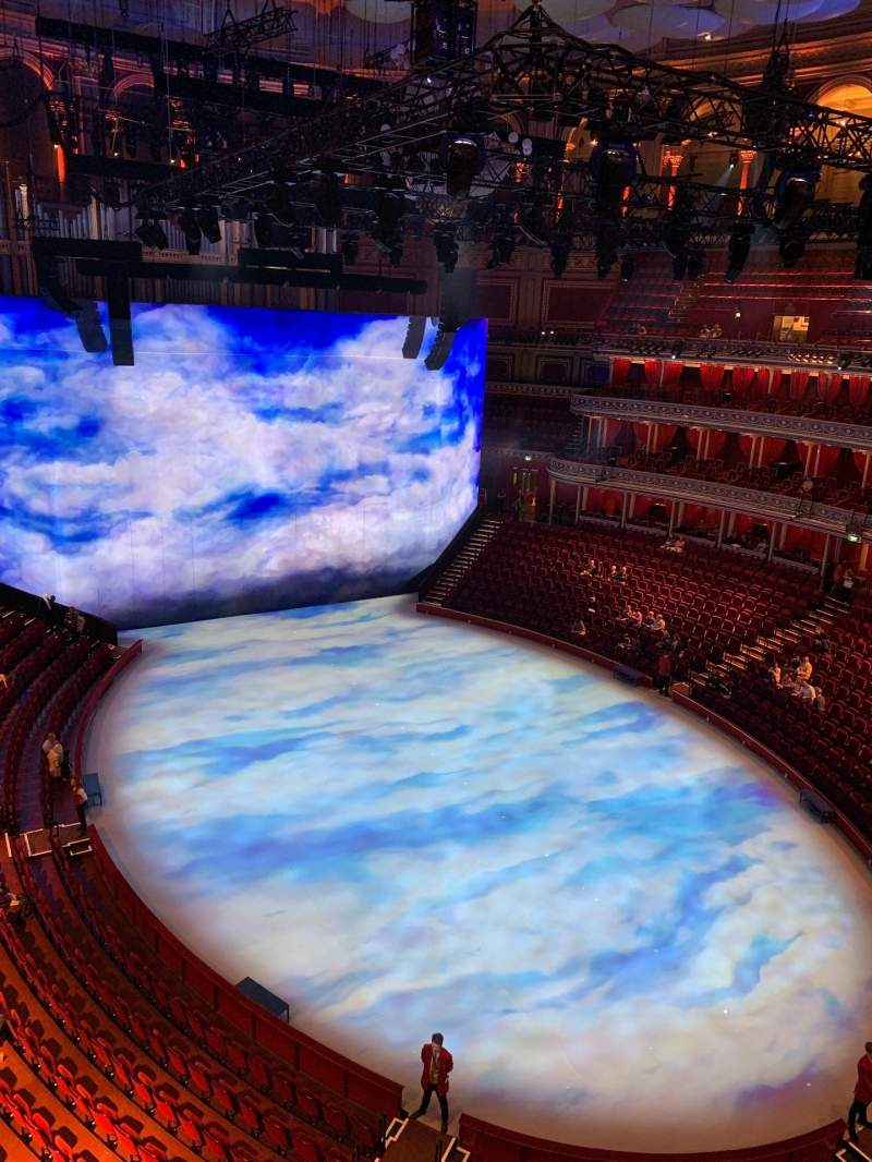 Seating view for Royal Albert Hall Section Rausing Circle S Row 1 Seat 77