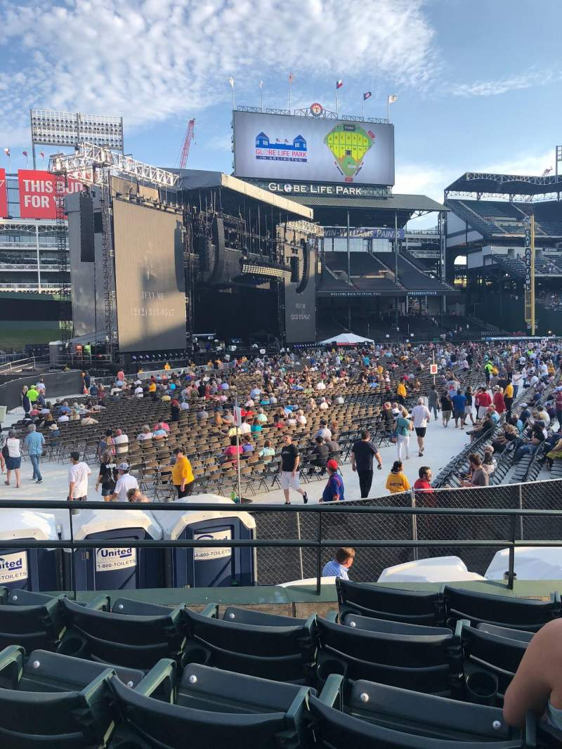 Seating view for Globe Life Park in Arlington Section 11 Row 13 Seat 9