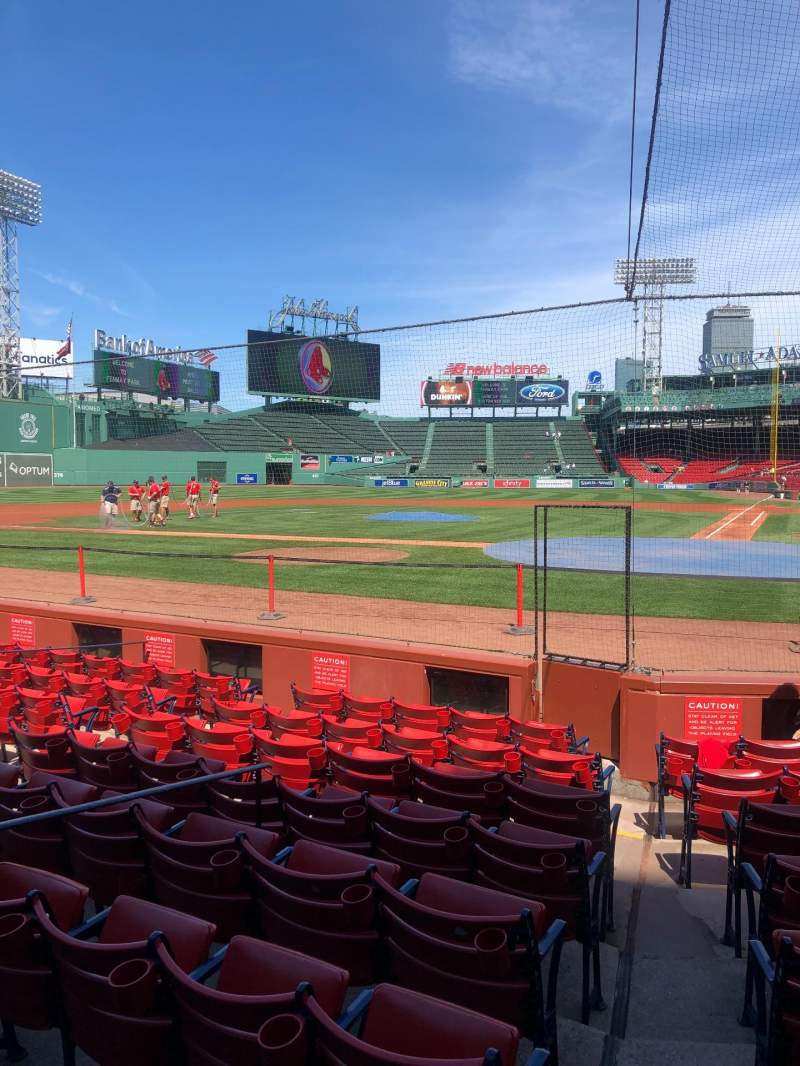 Seating view for Fenway Park Section Field box 51 Row F Seat 2-3