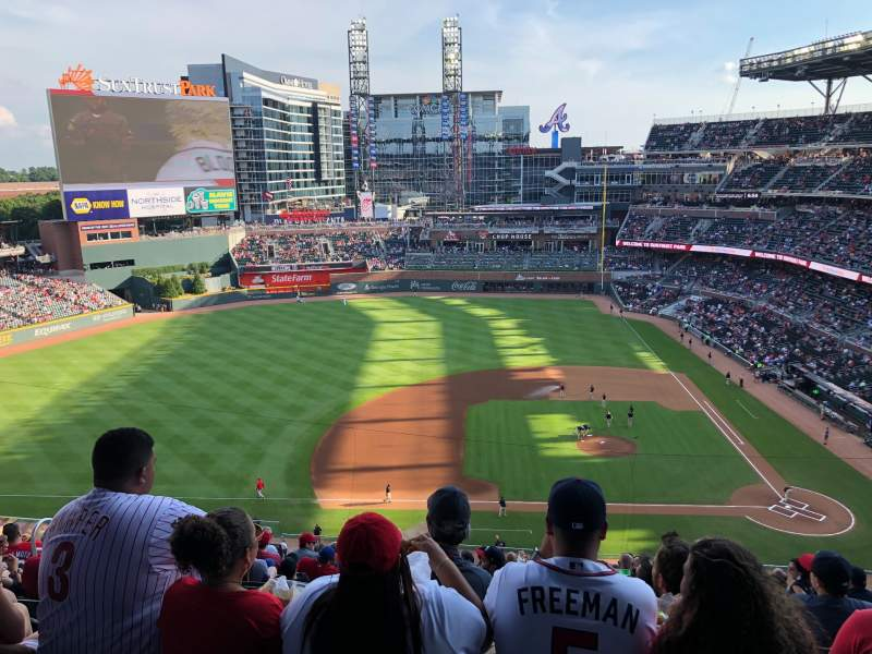 Seating view for Truist Park Section 331 Row 13 Seat 15-17