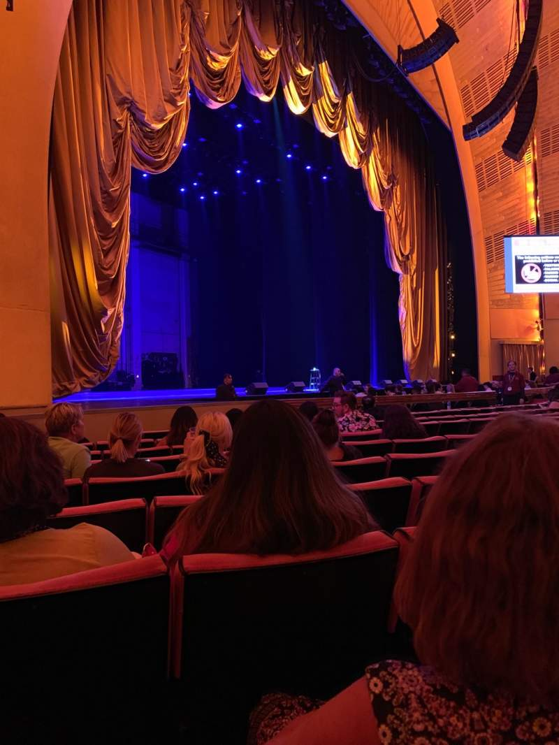 Seating view for Radio City Music Hall Section Orchestra 6 Row KK  Seat 612