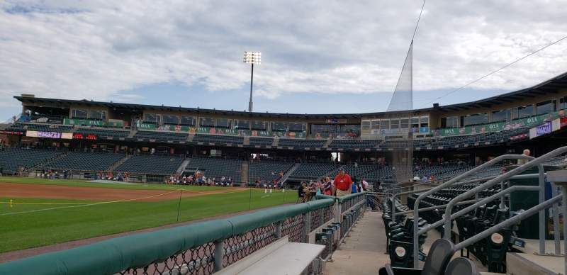 Seating view for Coca-Cola Park Section HOT SEATS Row A Seat 9