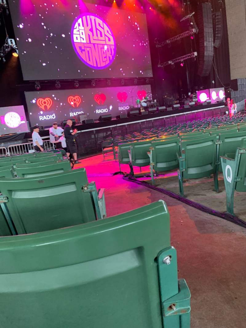 Seating view for Xfinity Center Section 3 Row U Seat 1