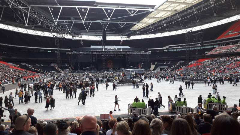 Seating view for Wembley Stadium Section 113 Row 19 Seat 52
