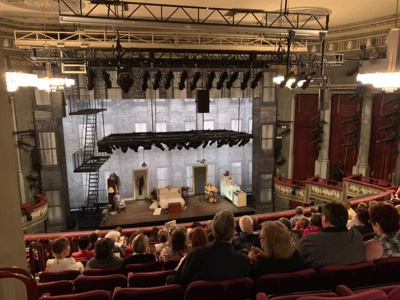 Seating view for Broadhurst Theatre Section Mezzanine C Row L Seat 101