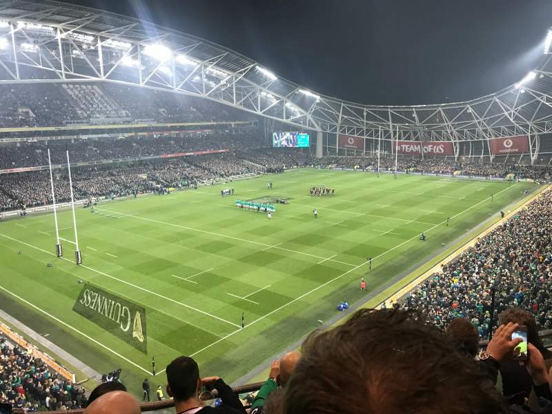 Seating view for Aviva Stadium Section 510 Row D Seat 20