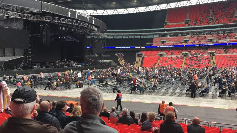 Seating view for Wembley Stadium Section B Row 16 Seat Ee
