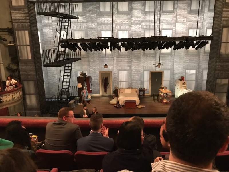 Seating view for Broadhurst Theatre Section Mezzanine C Row D Seat 107