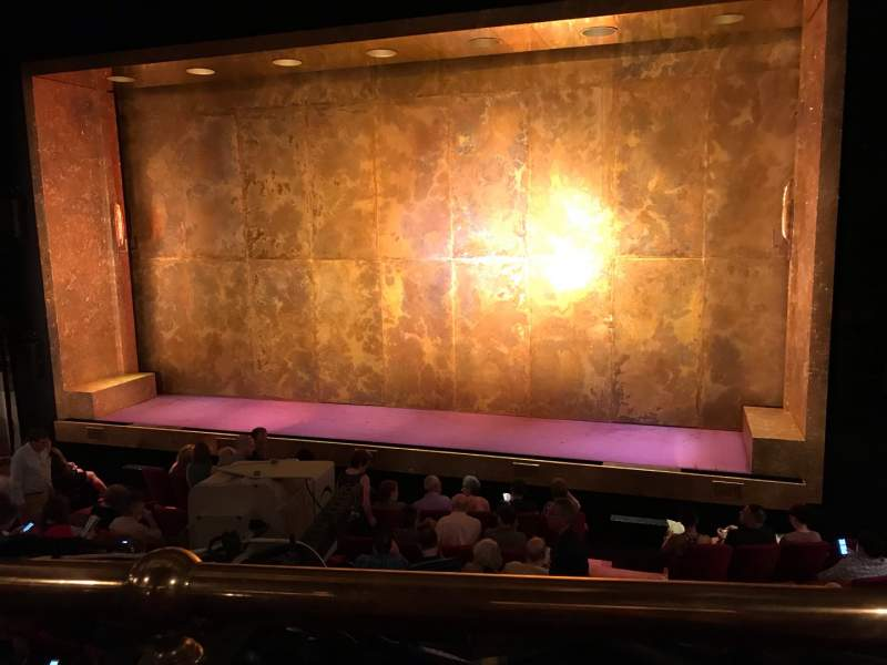 Seating view for Cort Theatre Section Mezzanine R Row A Seat 2