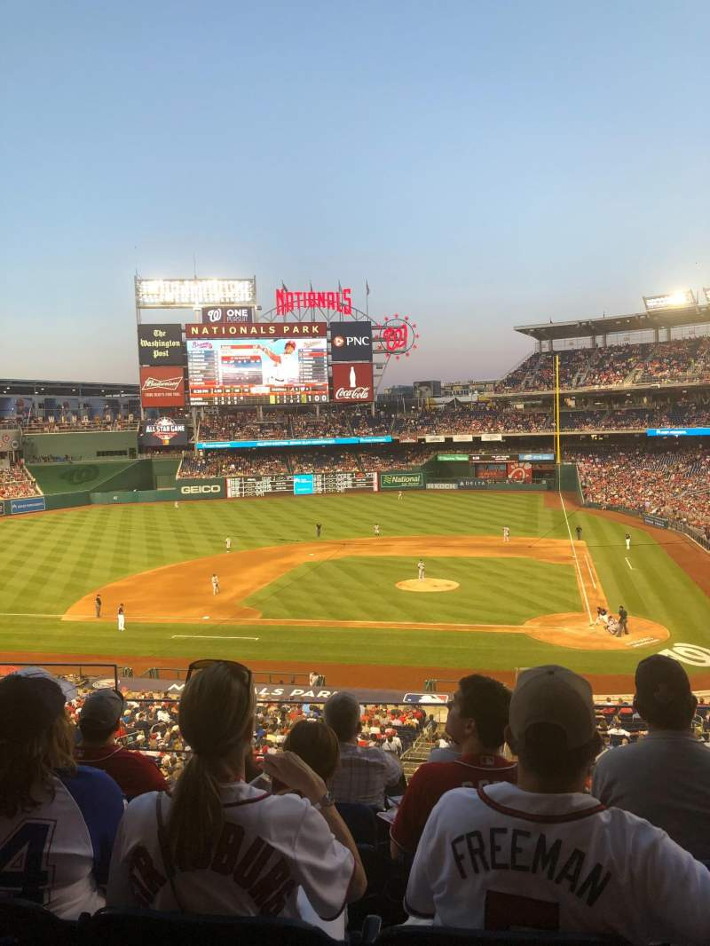 Seating view for Nationals Park Section 210 Row E Seat 19