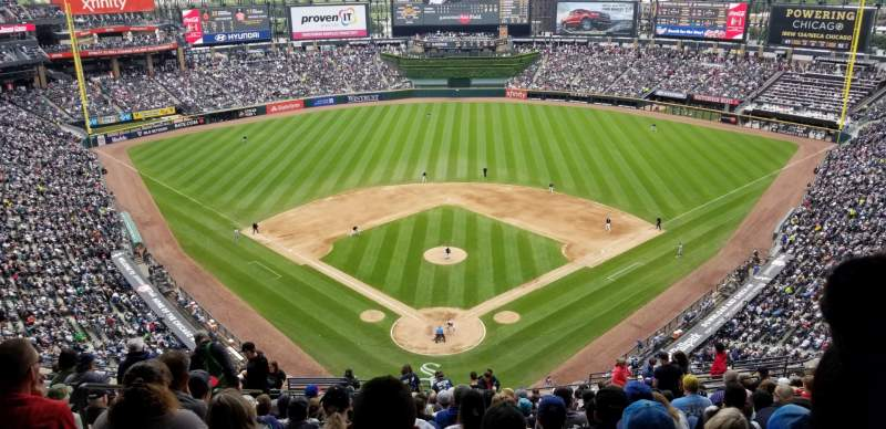 Seating view for Guaranteed Rate Field Section 531 Row 20 Seat 17