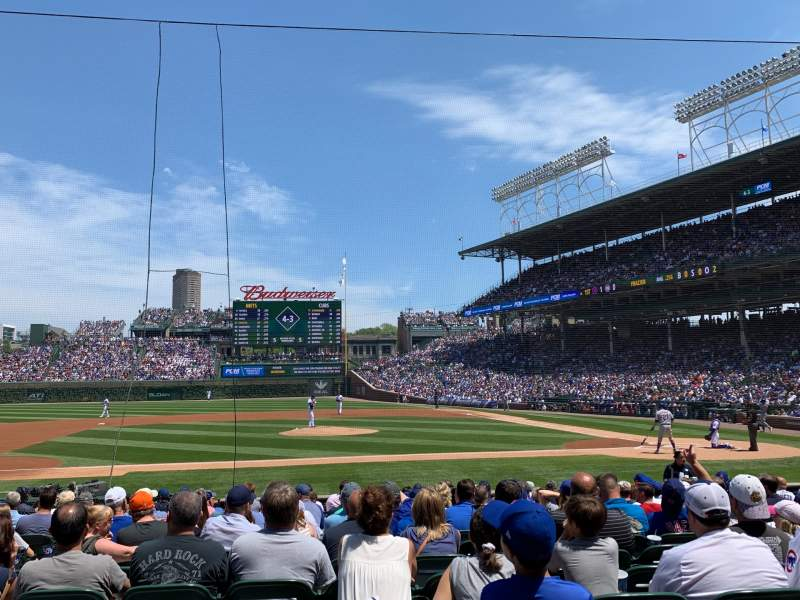 Seating view for Wrigley Field Section 112 Row 1 Seat 10