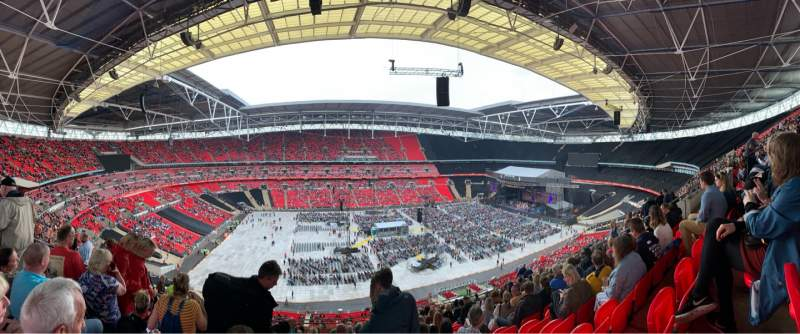 Seating view for Wembley Stadium Section 503 Row 62 Seat 64