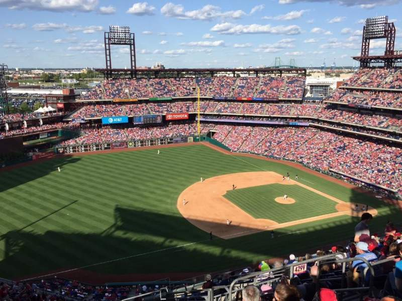 Seating view for Citizens Bank Park Section 430 Row 15 Seat 6