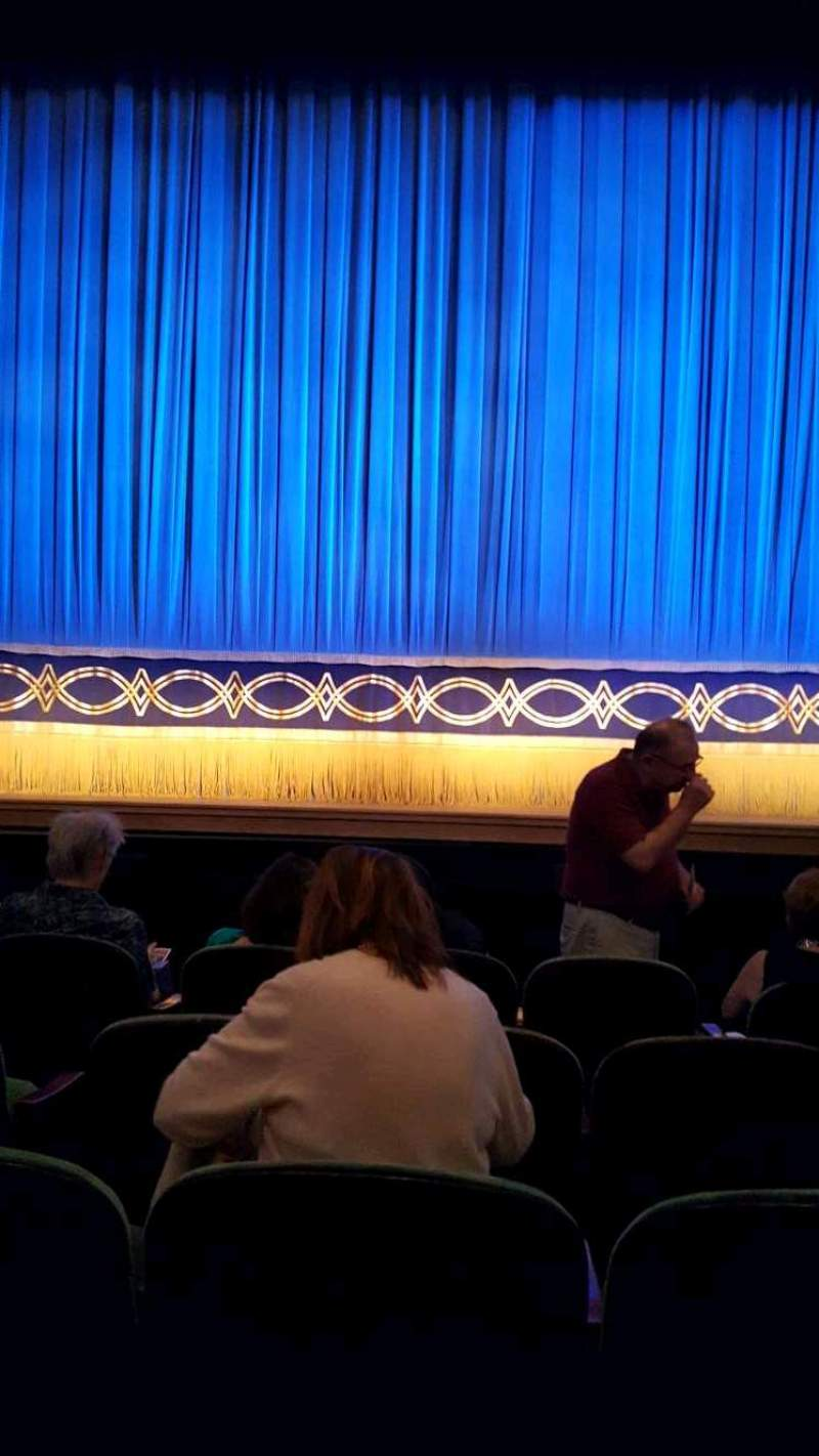 Seating view for Huntington Avenue Theatre Section Orchestra Row E Seat 109