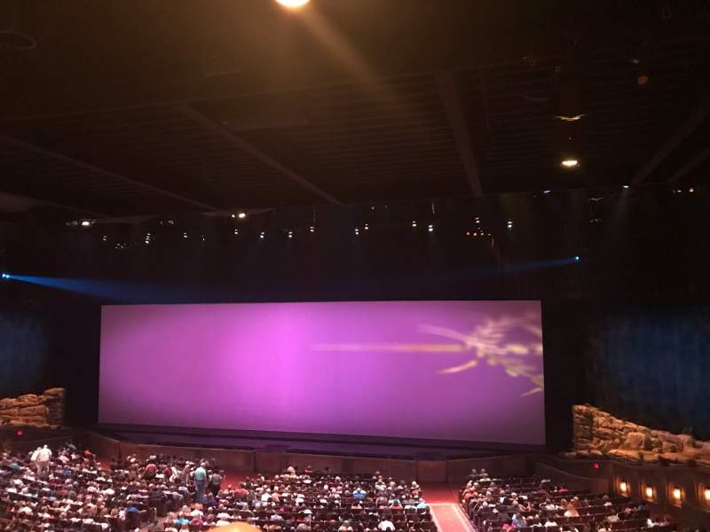 Seating view for Sight & Sound Millennium Theatre Section 304 Row PP Seat 78