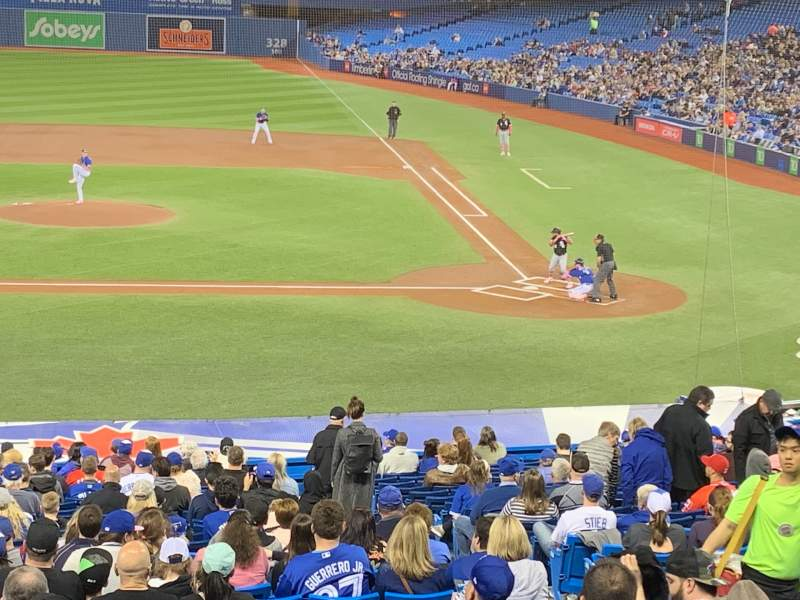 Seating view for Rogers Centre Section 126R Row A Seat 9