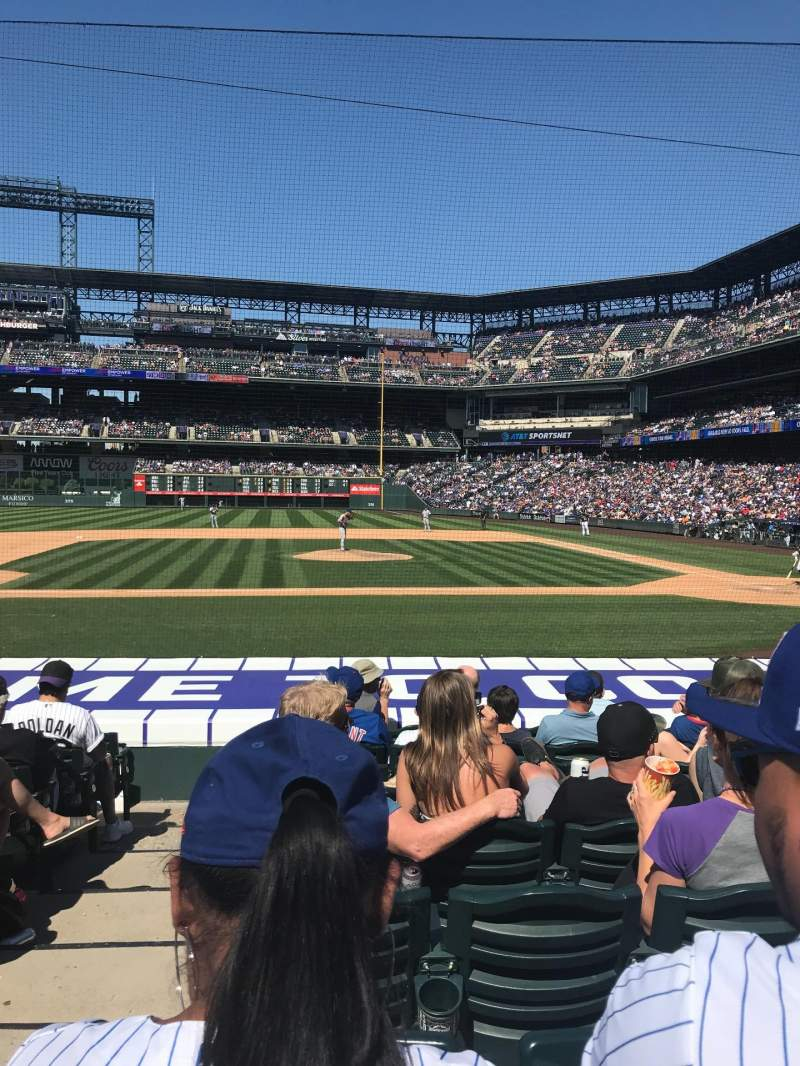 Seating view for Coors Field Section 137 Row 13 Seat 10