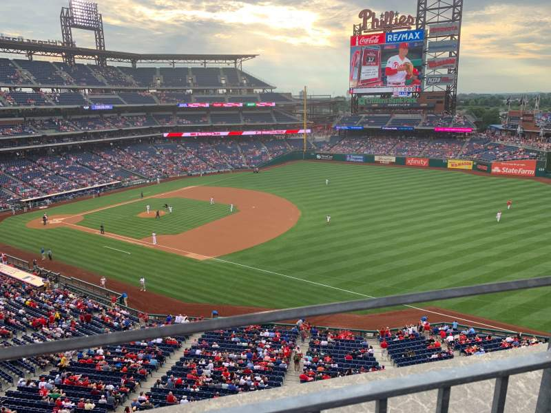Seating view for Citizens Bank Park Section 310 Row 1 Seat 2