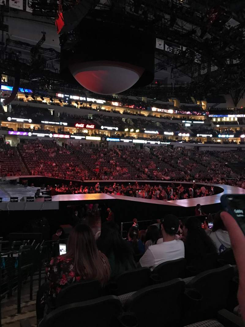 American Airlines Center Section 121 Row N Seat 15
